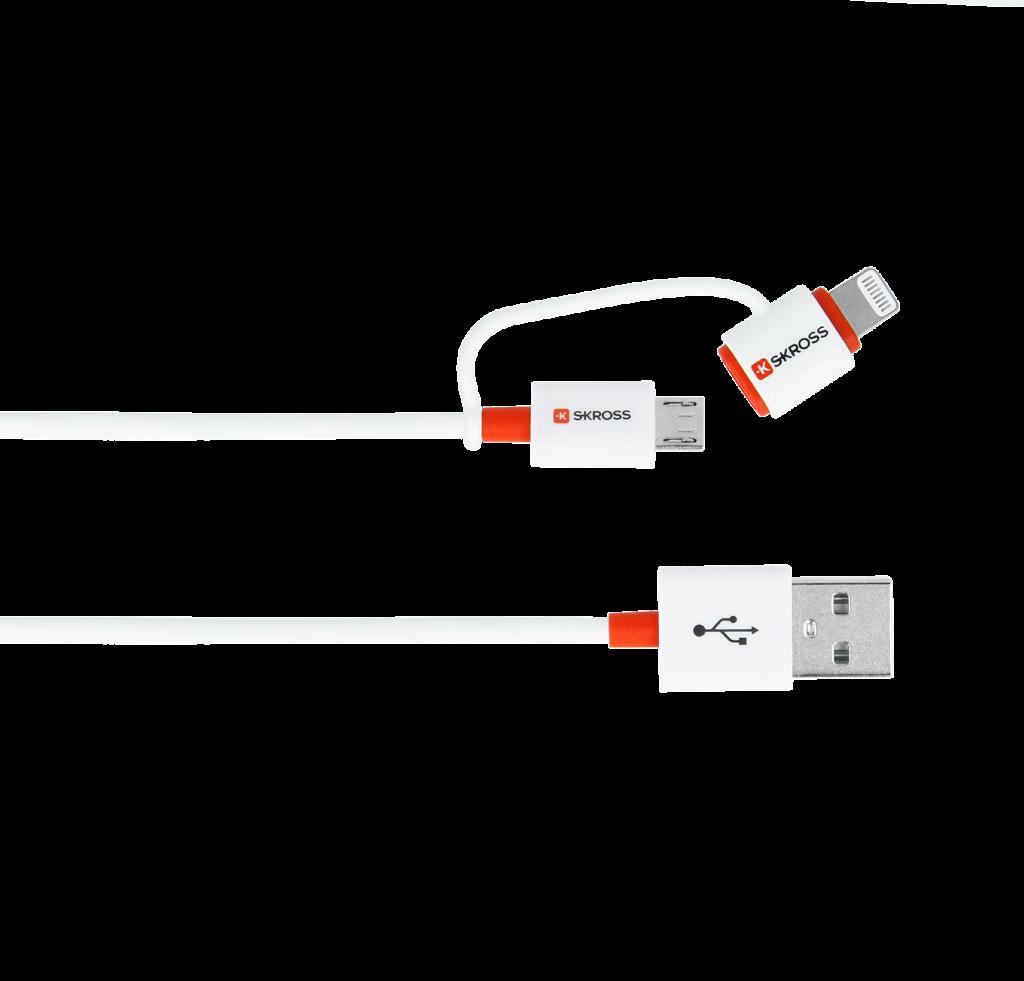 Kabel-2w1-do-ładowania Micro USB & Lightning