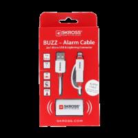 Kabel-2w1-z-alarmem Micro USB & Lightning